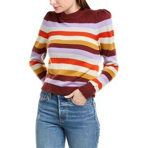 NWT Nordstrom WAYF Striped Crop Pullover Sweater